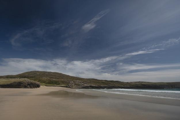 Vista, de, bonito, colina, e, praia