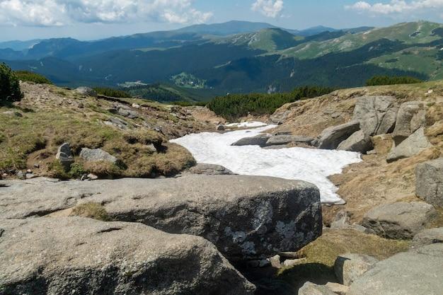 Vista, de, bucegi, montanhas, romania, bucegi, parque nacional