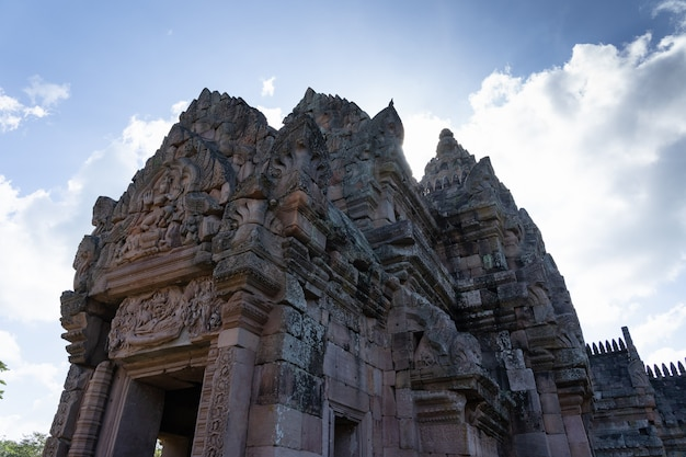 Vista, de, castelo hindu, rocha