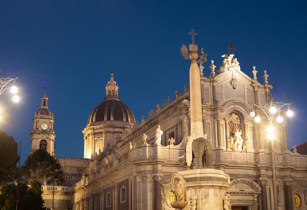 Vista, de, catania, catedral