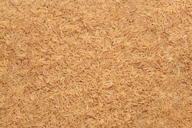 Vista de cima arroz integral na mesa