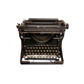 Vista de cima da máquina de escrever retro