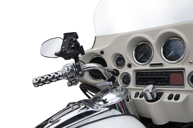 Vista de cima de uma moto de luxo