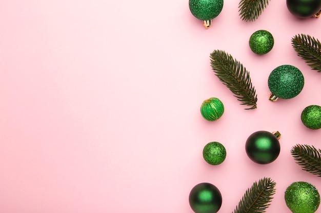 Vista de cima decorações de natal