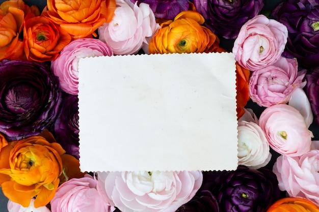 Vista de cima do buquê de flores