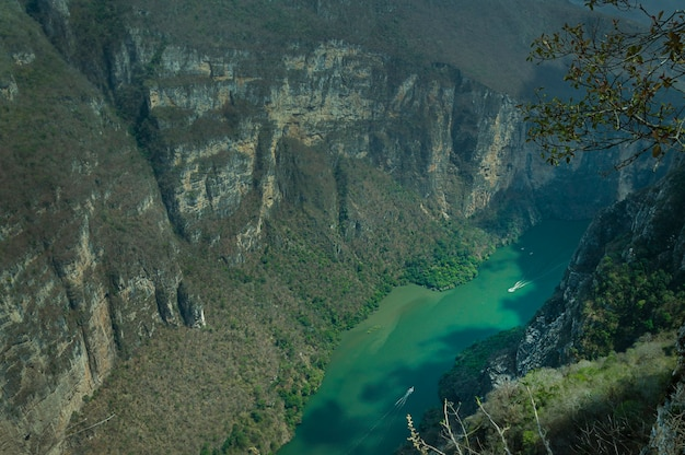 Vista de cima do desfiladeiro sumidero chiapas méxico