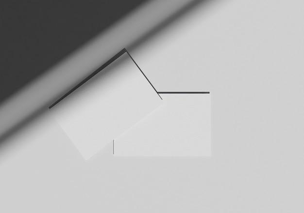 Vista de cima maquete de cartão de visita elegante com sombra