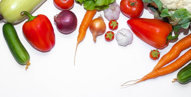 Vista de cima variedade vegetal