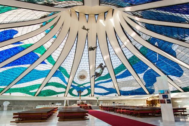 Vista de dentro da catedral metropolitana de brasília