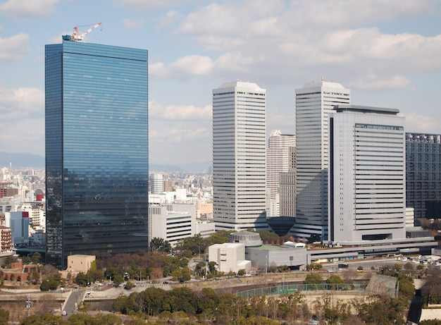 Vista, de, edifícios, e, cityscape, japão