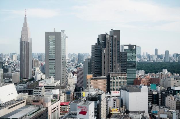 Vista de edifícios urbanos modernos