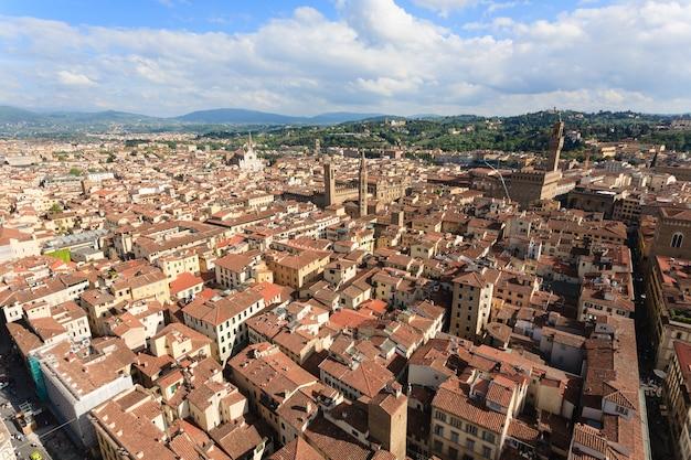 Vista de florença da torre do sino de giotto, panorama italiano