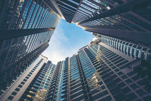 Vista de formiga para construção em cingapura