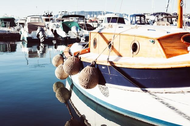 Vista, de, iates, em, marina, de, cannes, frança