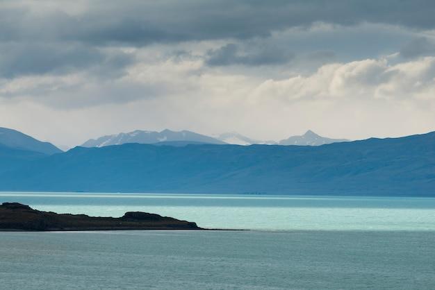 Vista, de, lago, argentino, los glaciares parque nacional, santa cruz, província, patagonia, argentina