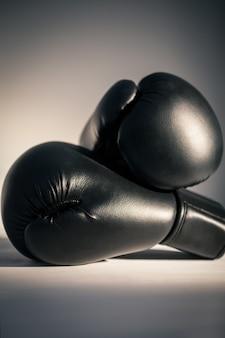 Vista de luvas de boxe