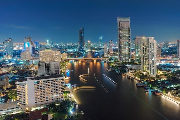 Vista, de, paisagem urbana, em, bangkok, tailandia