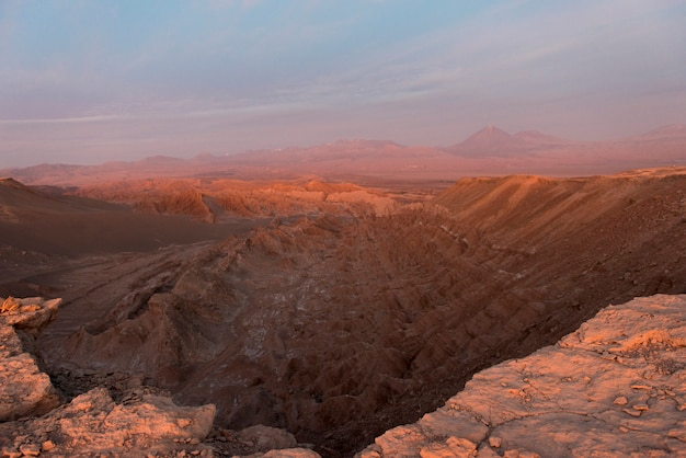 Vista, de, rochoso, paisagem, vale morte, san pedro atacama, el loa, província, região antofagasta, ch