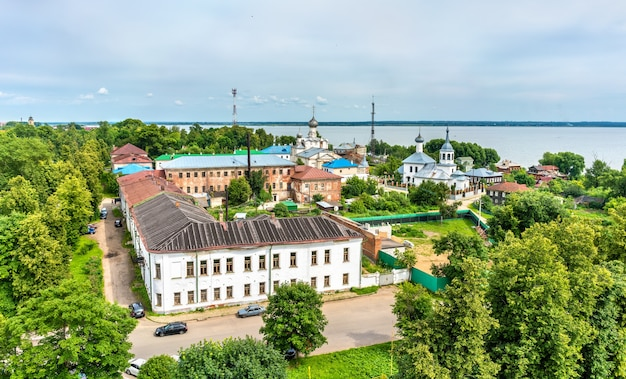 Vista de rostov, uma cidade no anel de ouro da rússia