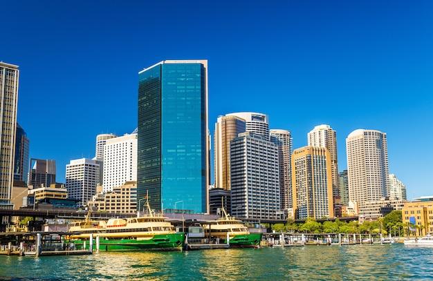 Vista de sydney em circular quay. austrália