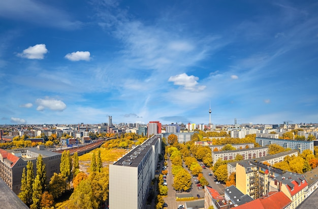 Vista de um horizonte da cidade moderna