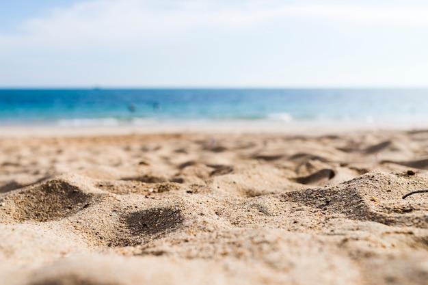 Vista, de, um, praia arenosa