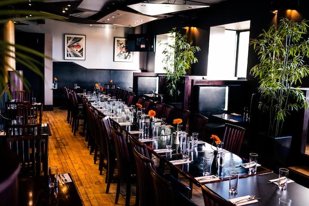Vista, de, um, restaurante, interior