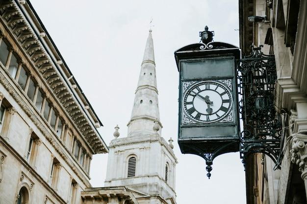Vista, de, um, tradicional, predios, em, um, centro cidade