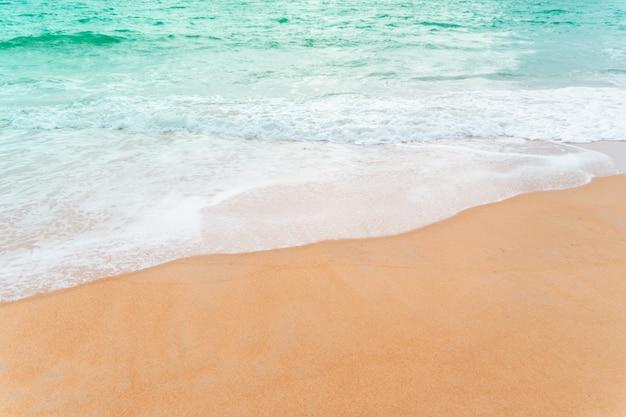 Vista de uma praia limpa