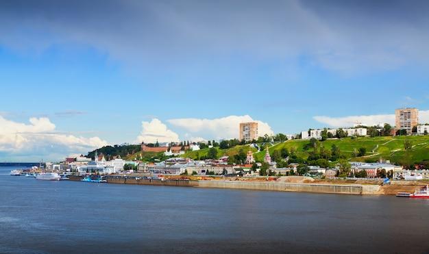 Vista de verão de nizhny novgorod. rússia