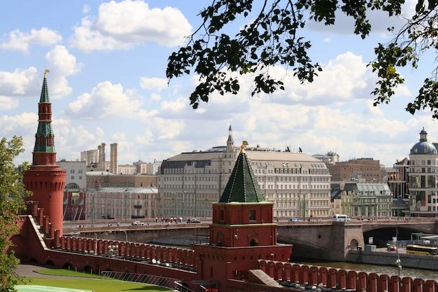 Vista deslumbrante do kremlin de moscou, rússia
