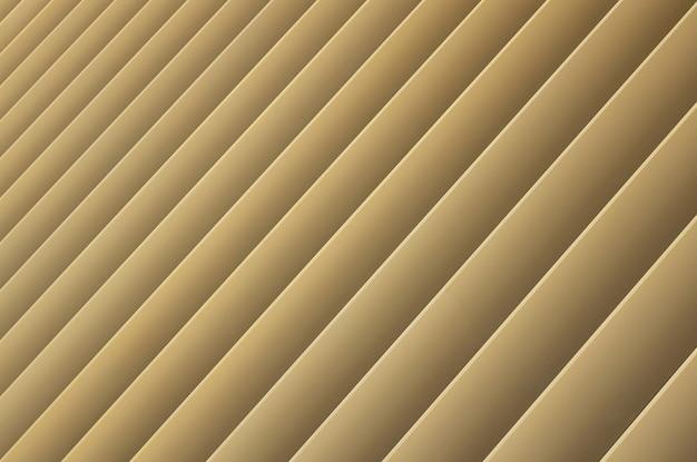 Vista diagonal de listras bege ou douradas.