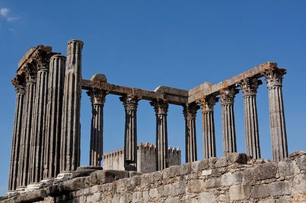 Vista do belo templo de diana