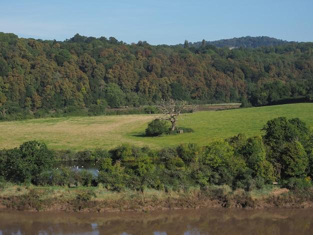 Vista do campo em chepstow
