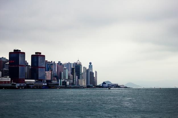 Vista do centro da cidade rio desenvolvimento vista panorâmica