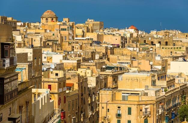 Vista do centro histórico de valletta malta