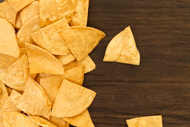 Vista do close-up de tortilla chips