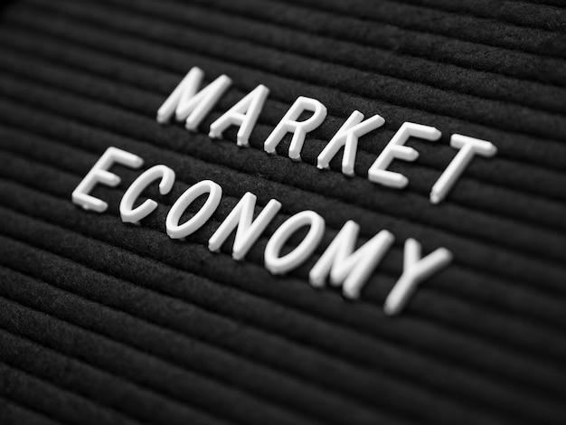 Vista do close-up do conceito de economia
