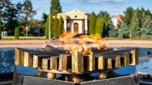 Vista do complexo memorial eternidade em chisinau, moldávia
