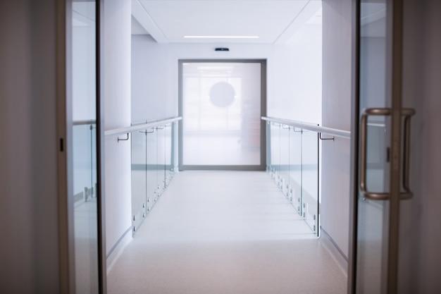 Vista do corredor do hospital