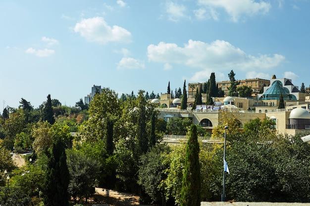 Vista do distrito de jerusalém de yemin moshe