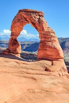 Vista do famoso delicate arch, utah, eua