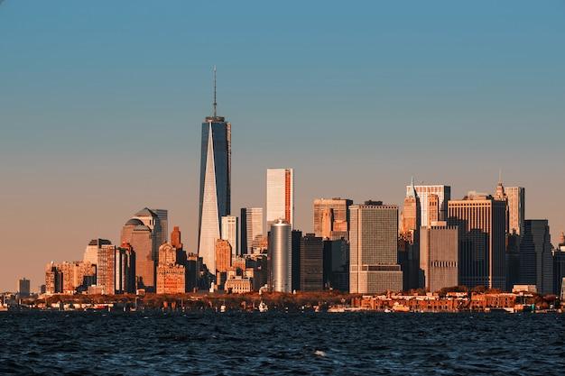 Vista do horizonte de manhattan em nova york