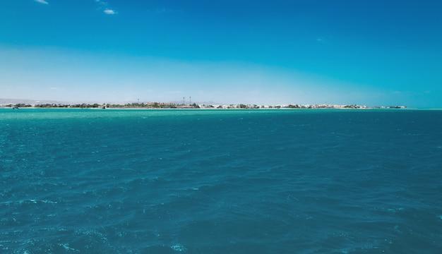 Vista do litoral do norte da áfrica