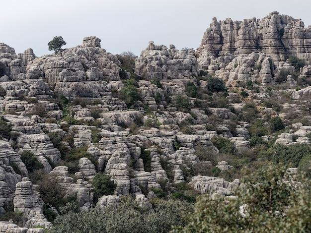 Vista do parque natural el torcal de antequera.