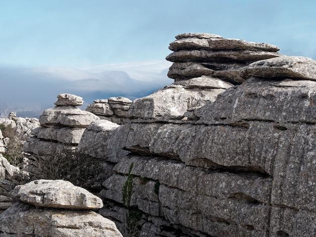 Vista do parque natural el torcal de antequera
