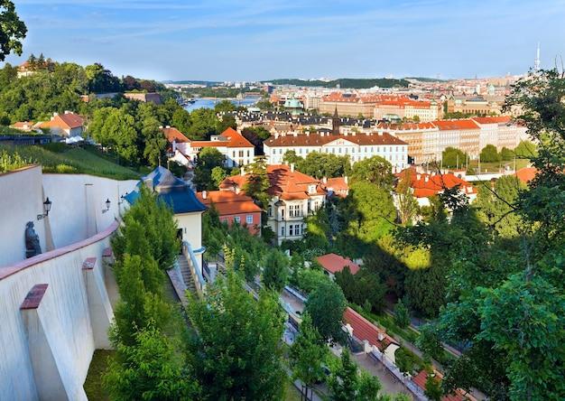 Vista do stare mesto (cidade velha), praga, república tcheca