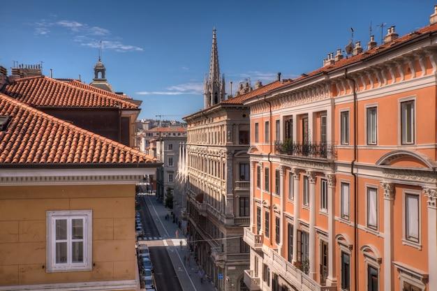 Vista do telhado de trieste