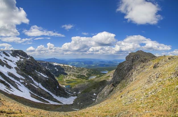 Vista do topo da garganta da montanha