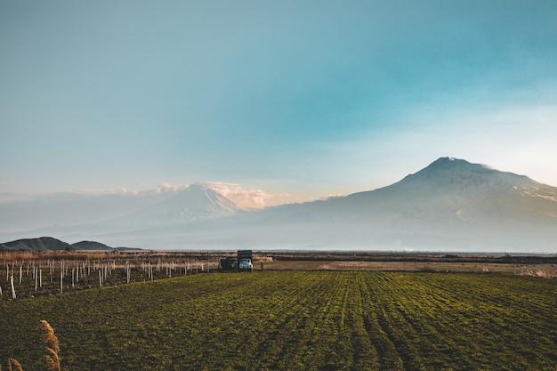 Vista do vale de ararat da armênia